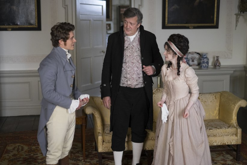 Stephen Fry, Xavier Samuel and Jenn Murray in Love & Friendship - Credit IMDB