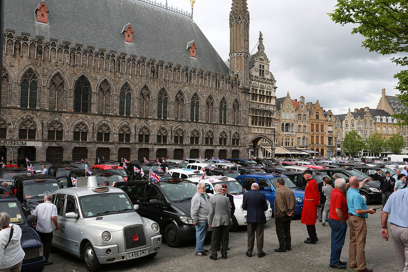 Veterans Trip to Ypres cabs - Credit Jo Ward Photography
