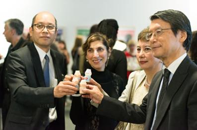 Yakult UK Managing Director Hiroyasu Matsubara together with His Excellency Keiichi Hayashi and Mrs Hayashi