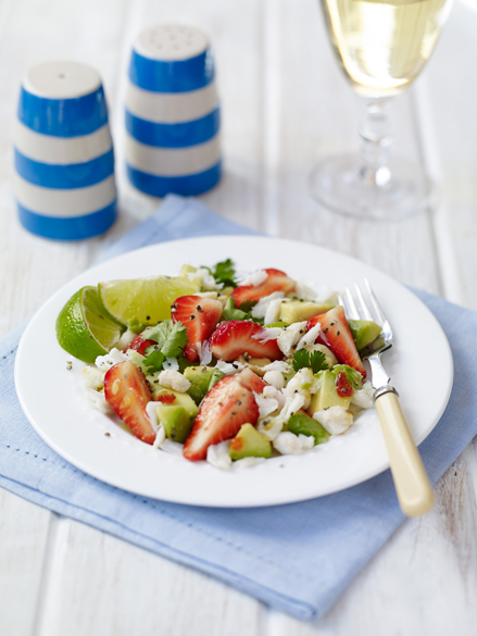 BerryWorld Strawbery, Crab and Avocado Salad