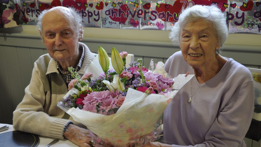 Hampshire platinum pair celebrate 70 years of 'love and laughter'
