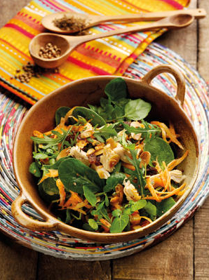Indian Chicken & Carrot Salad