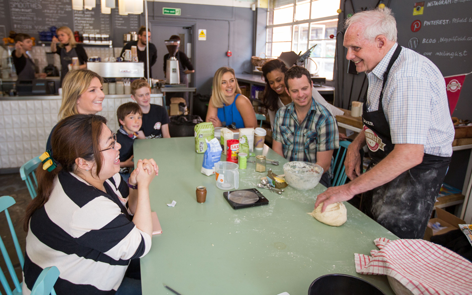 GrandMaker Clive Lillow teaching a Bread Making masterclass at GrandFest - Picture by Michael Crabtree
