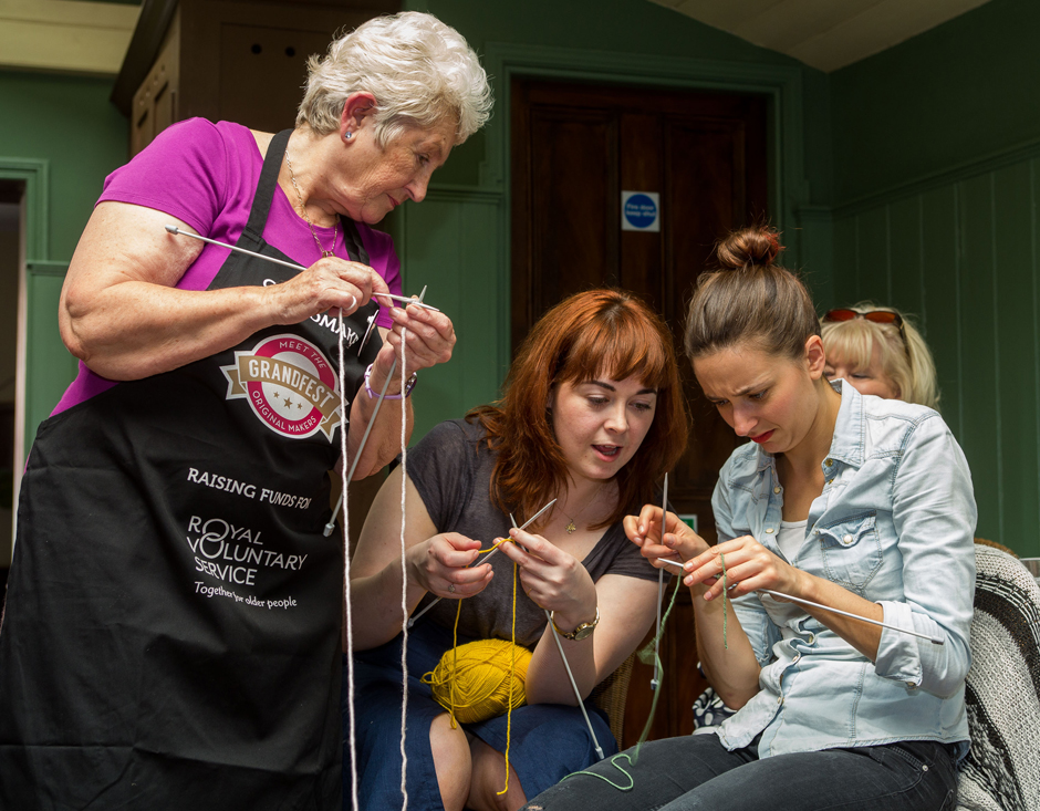GrandMaker Sandra Talmey teaching a Knitting masterclass at GrandFest - Picture by Michael Crabtree