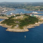 Pendennis Point and Castle from the air