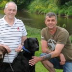 Hero dog saves drowning owner by jumping in river and pulling him to safety