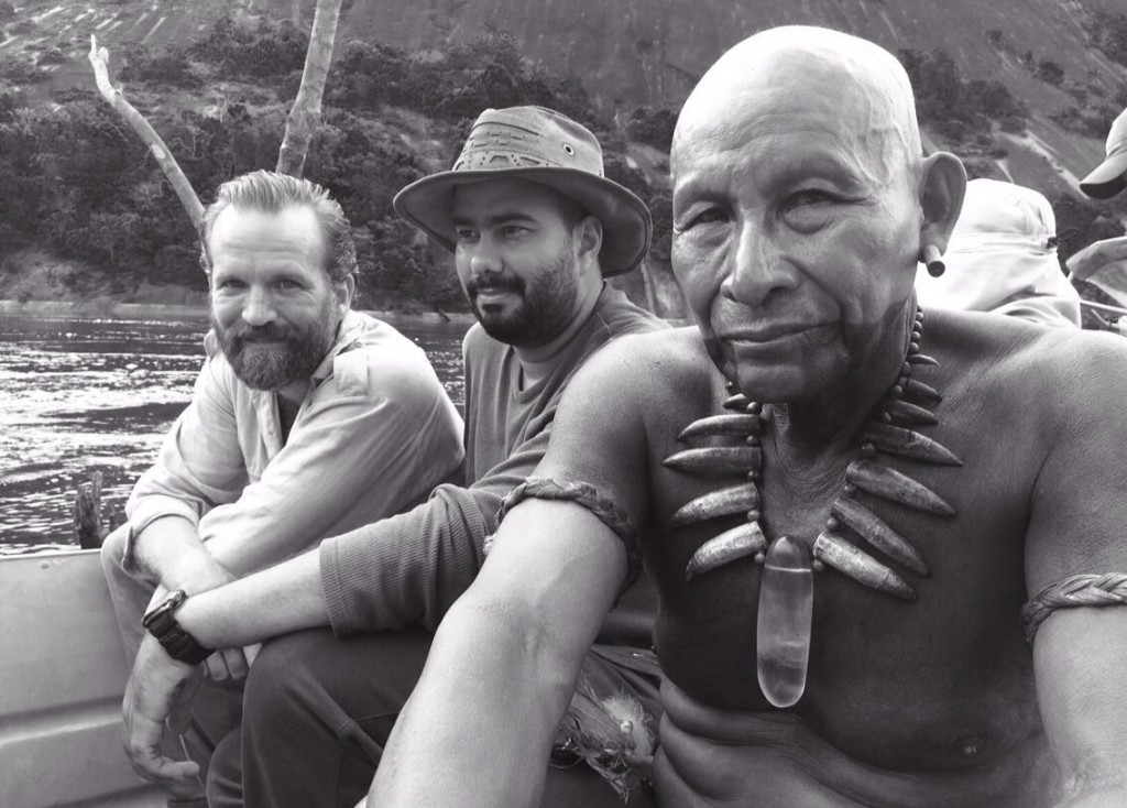 On the river Mitu, Colombia with director Ciro Guerra and co-star - Credit IMDB