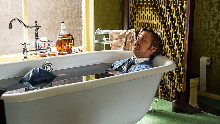 Ryan Gosling in The Nice Guys - Photo by Daniel McFadden - © 2014 Warner Bros. Entertainment Inc - Credit IMDB