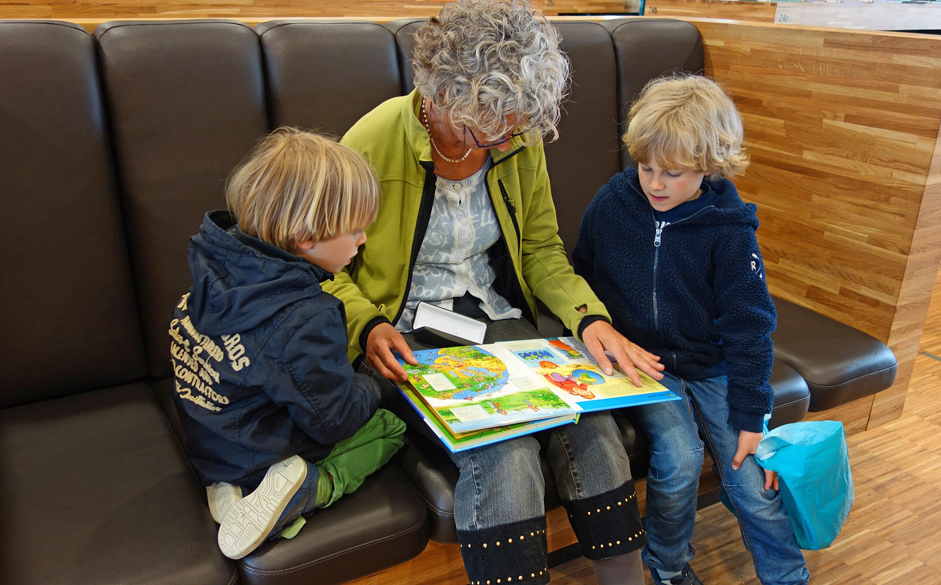 Older woman - Children - Reading - Free for commercial use No attribution required - Credit Pixabay