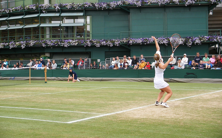 Tennis - Wimbledon - Female tennis player - Free for commercial use No attribution required - Credit Pixabay