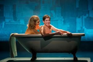 Pixie Lott in bath with Matt Barber