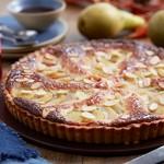 Ian Cumming's poached pear frangipane tart
