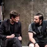 Matt Smith and Jonjo O'Neill in a movie satire