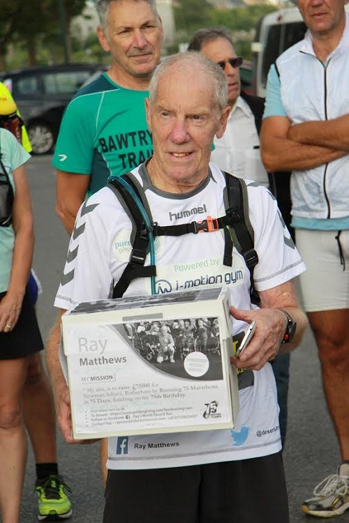 75-year-old Ray Matthews running 75 marathons in 75 consecutive days