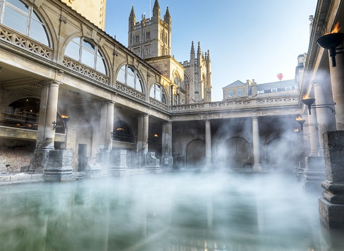 Roman Baths in the city of Bath - top cities