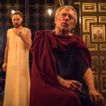 Stephen Boxer (Caesar), Samuel Collings (Jesus) in The Inn at Lydda - Photo by Marc Brenner