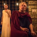 Stephen Boxer (Caesar), Samuel Collings (Jesus) in The Inn at Lydda - Photo by Marc Brenner