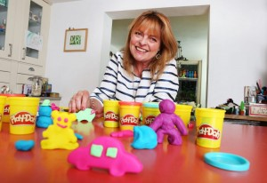 Janet Ellis playing with Playdoh
