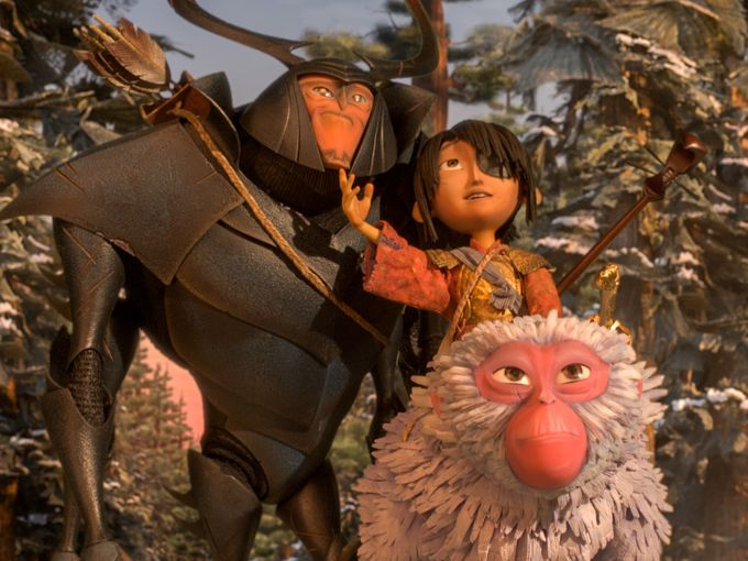 Matthew McConaughey, Charlize Theron, and Art Parkinson in Kubo and the Two Strings