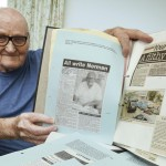 A 90-year-old is trying to set the world record for the most letters printed in newspapers