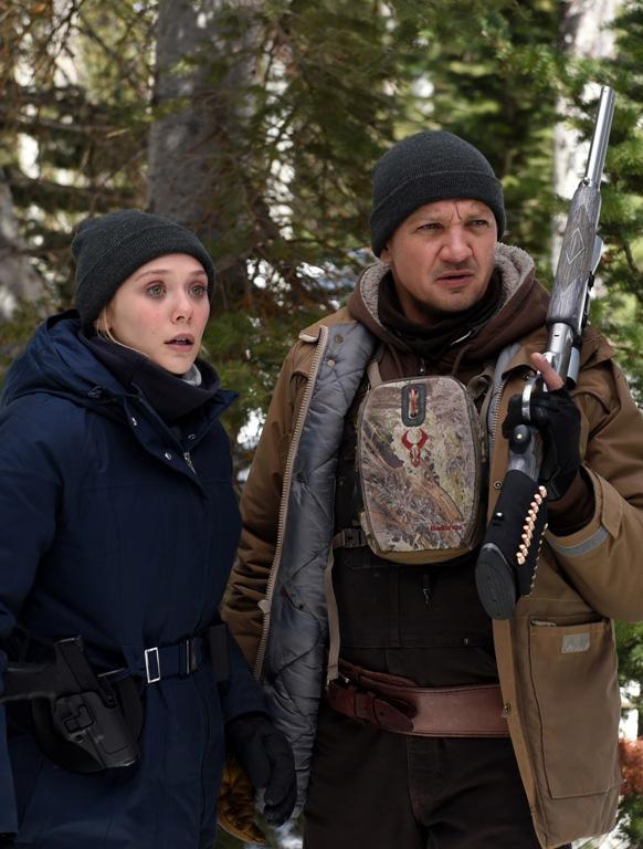 Elizabeth Olsen and Jeremy Renner in Wind River - Credit IMDB