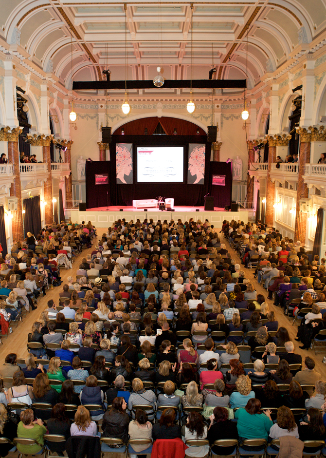 Audience at Cheltenham Literary Festival