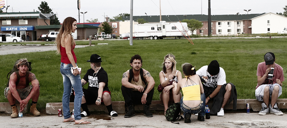 Shia LaBeouf, Riley Keough, McCaul Lombardi and Veronica Ezell in American Honey - Credit IMDB