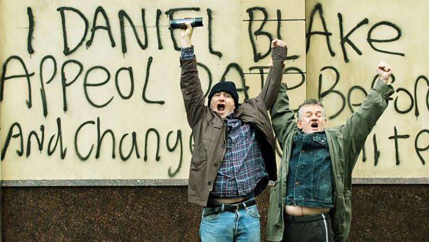 Dave Johns and Malcolm Shields in I, Daniel Blake - Credit IMDB