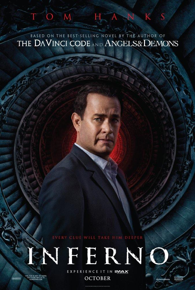 Tom Hanks - Inferno cover - Credit IMDB