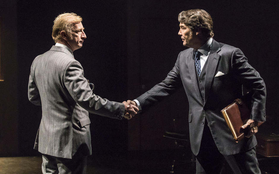 Steffan Rhodri and Nathaniel Parker in This House - Credit Johan Persson