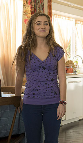 Haley Lu Richardson in The Edge of Seventeen - Copyright 2015 STX Productions, LLC. All Rights Reserved. - Credit IMDB