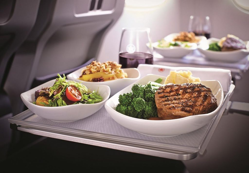 Air Canada in flight food