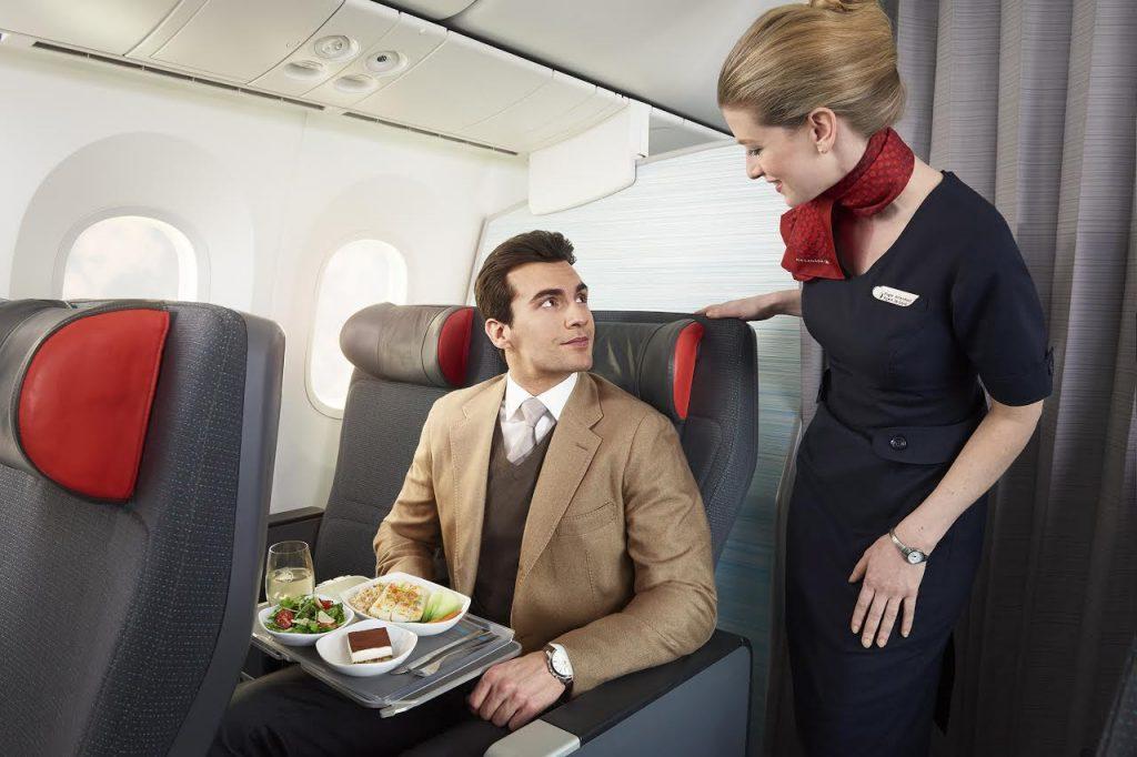 Air Canada in flight food