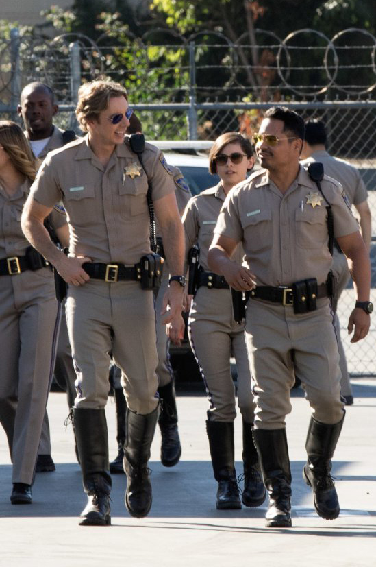 Michael Peña and Dax Shepard in CHIPS - Photo by Peter Iovino - © Copyright 2015 Warner Bros. Entertainment Inc. and RatPac-Dune Entertainment LLC All Rights Reserved - Credit IMDB