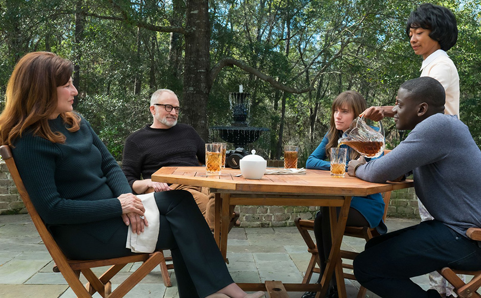 Catherine Keener, Bradley Whitford, Daniel Kaluuya, Betty Gabriel, and Allison Williams in Get Out - Credit IMDB