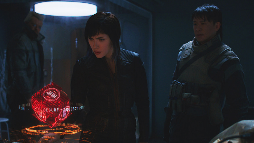 Scarlett Johansson, Pilou Asbæk, Chin Han and Danusia Samal in Ghost in the Shell - Credit IMDB
