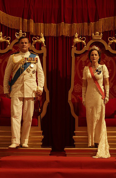 Gillian Anderson and Hugh Bonneville in Viceroy's House - Credit IMDB