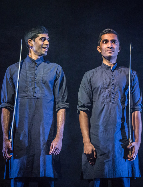 Darren Kuppan and Danny Ashok in Guards at the Taj - Credit Marc Brenner