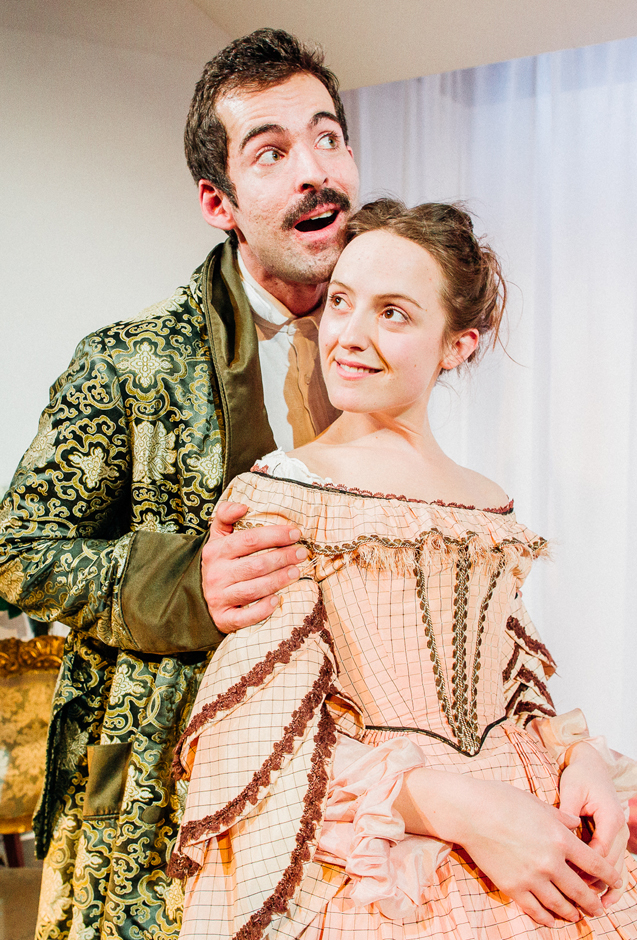 Duncan Moore and Isabella Marshall in Caste - Credit Greg Veit