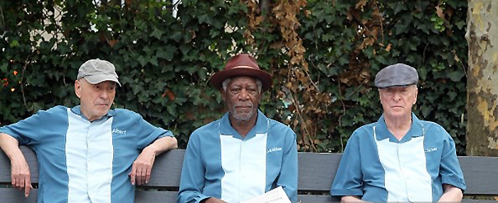 Morgan Freeman, Alan Arkin and Michael Caine in Going in Style - Copyright STEVE SANDS / NEW YORK NEWSWIRE - Photo by Steve Sands - Credit IMDB