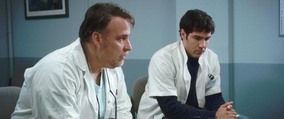 Bouli Lanners and Tahar Rahim in Heal the Living - Credit IMDB