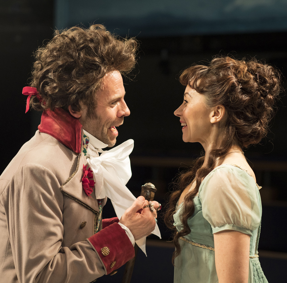 Keir Charles and Claire Lams in The Lottery of Love Credit Helen Maybanks