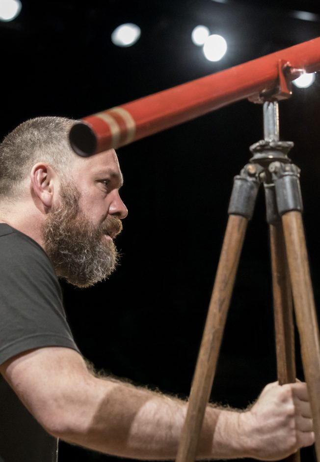 Brendan Cowell in Life of Galileo - Credit Johan Persson