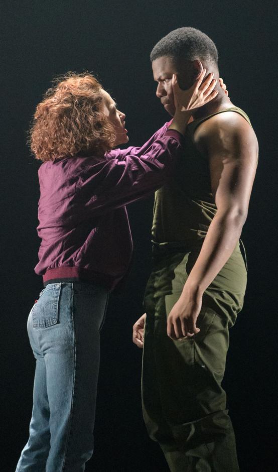John Boyega and Sarah Greene in Woyzeck - Credit Manuel Harlan