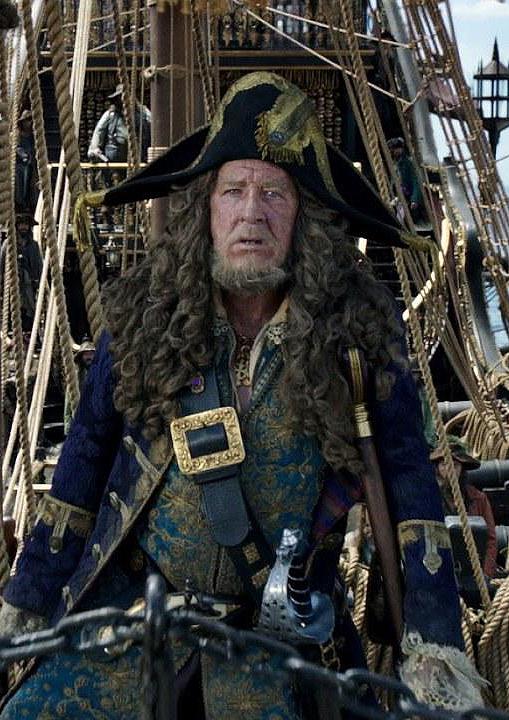 Geoffrey Rush in Pirates of the Caribbean: Salazar's Revenge - Credit IMDB