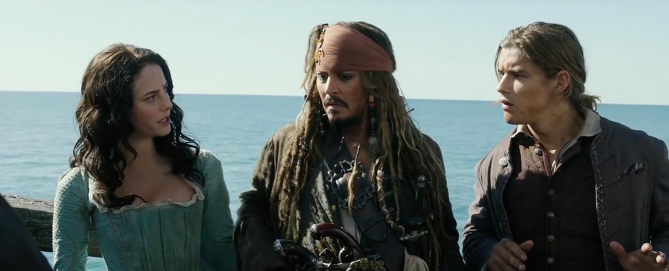 Johnny Depp, Kaya Scodelario and Brenton Thwaites in Pirates of the Caribbean: Salazar's Revenge - Credit IMDB