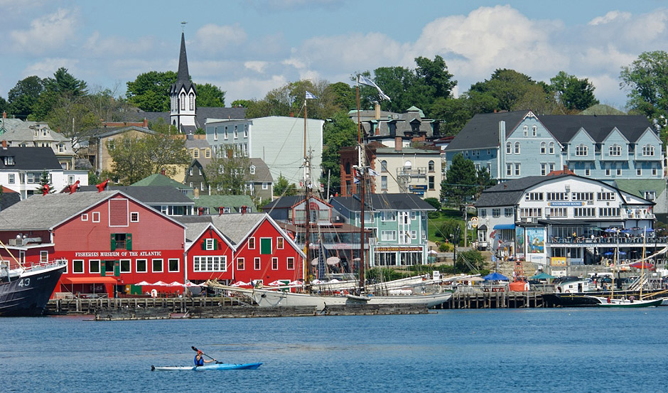 Kayaker on the Lunenburg Waterfront - Atlantic Canada