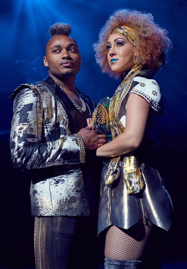 Danielle Steers and Dom Hartley-Harris in Bat out of Hell - Credit Specular