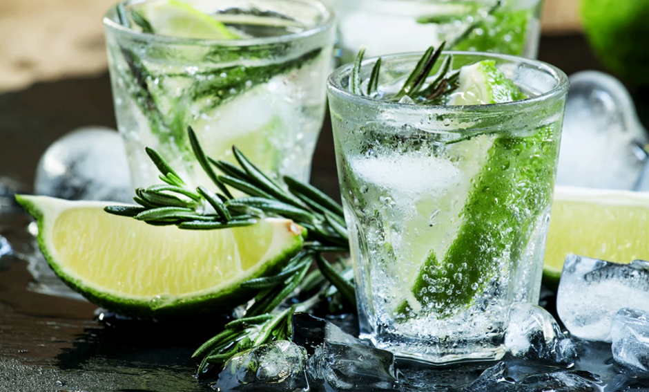 Gin, rosemary and lime