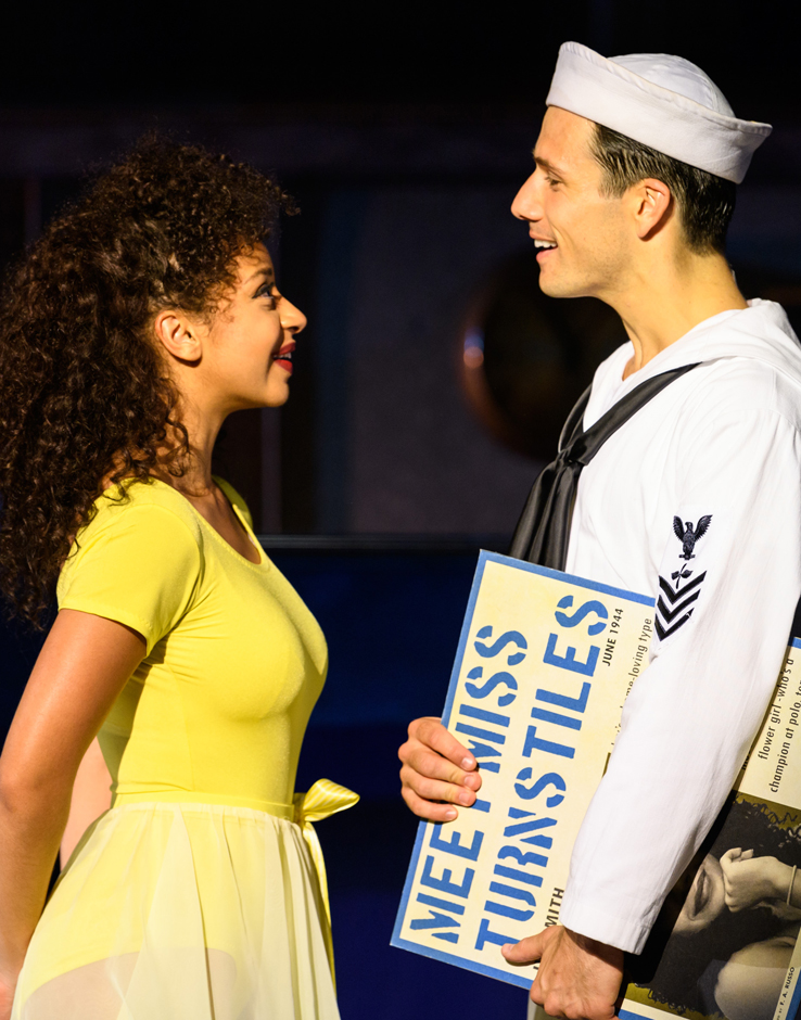 Siena Kelly and Danny Mac in On the Town - Credit Jane Hobson